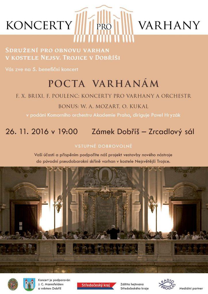 Pocta varhanám -pozvánka na koncert pro varhany v Dobříši