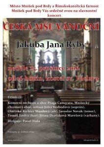 Česká mše vánoční 2016 - plakát