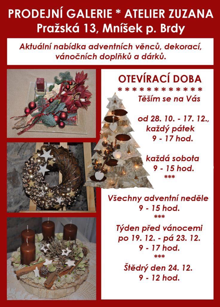 Nabídka prodejní galerie Atelieru Zuzana